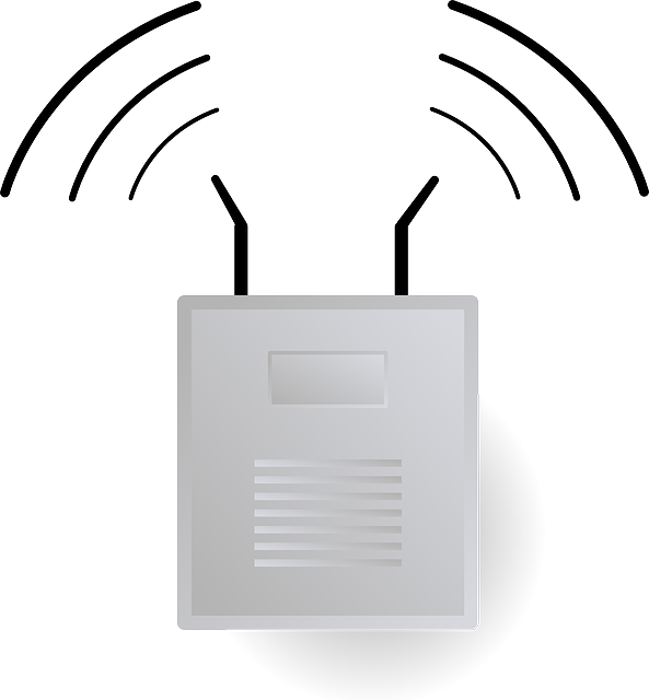 animation of a wifi extender