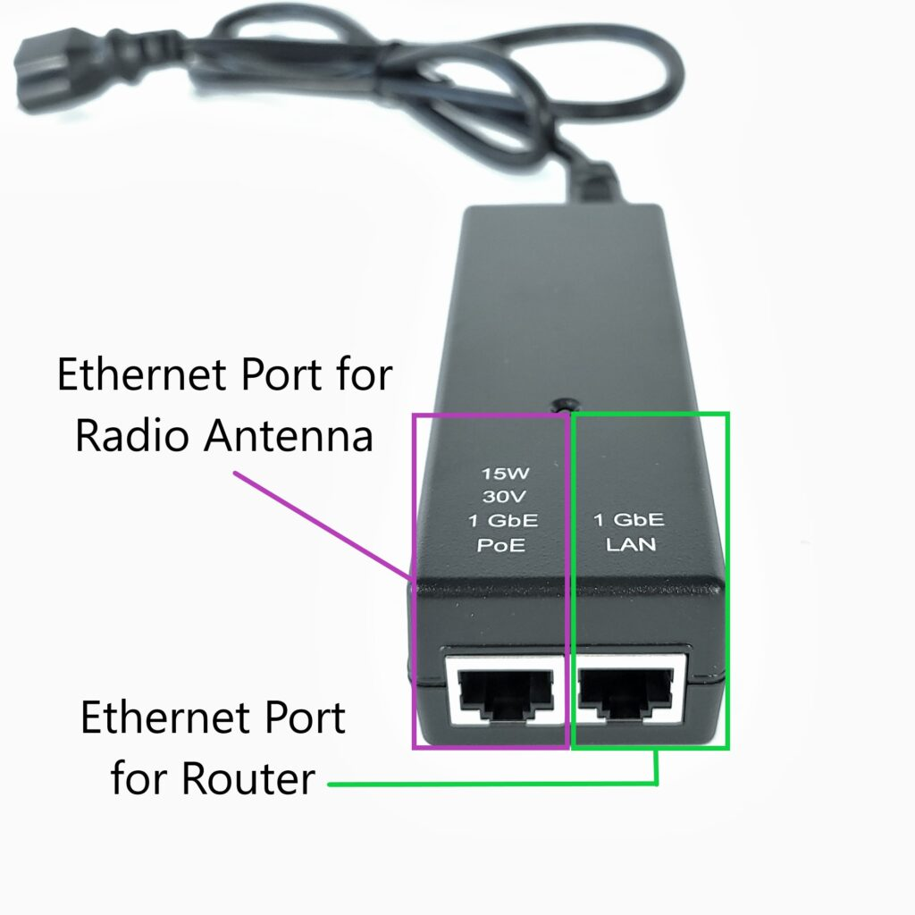power supply for wireless internet radio antenna