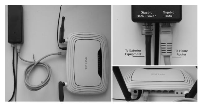 wireless internet equipment connection diagram